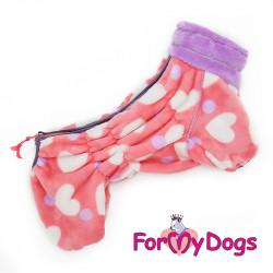 Pyjama en polaire rose à...