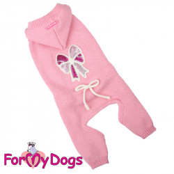 Combinaison rose en tricot