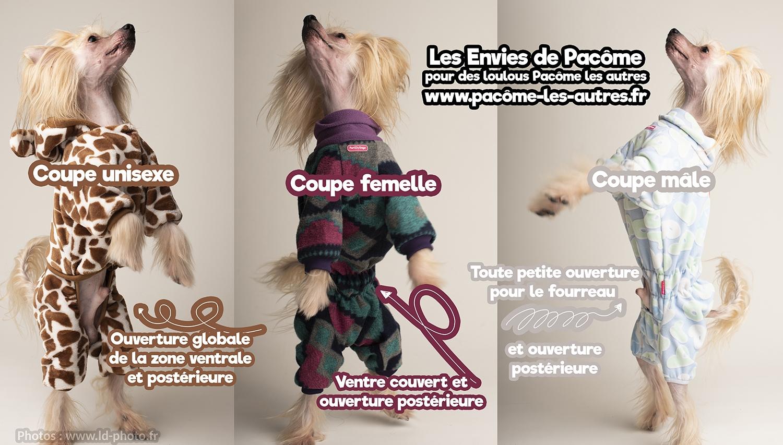 coupes mâle femelle unisexe vêtements pour chiens ForMyDogs